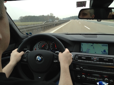 140 MPH on the Autobahn.