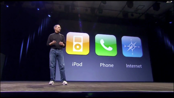 Steve Jobs debuts the iPhone