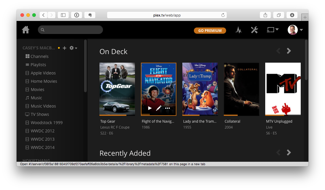 Plex on the Web