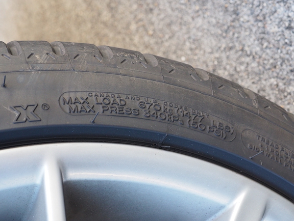 Tire Maximum Pressure