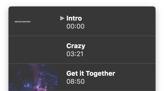Intro, Crazy, Get it Together