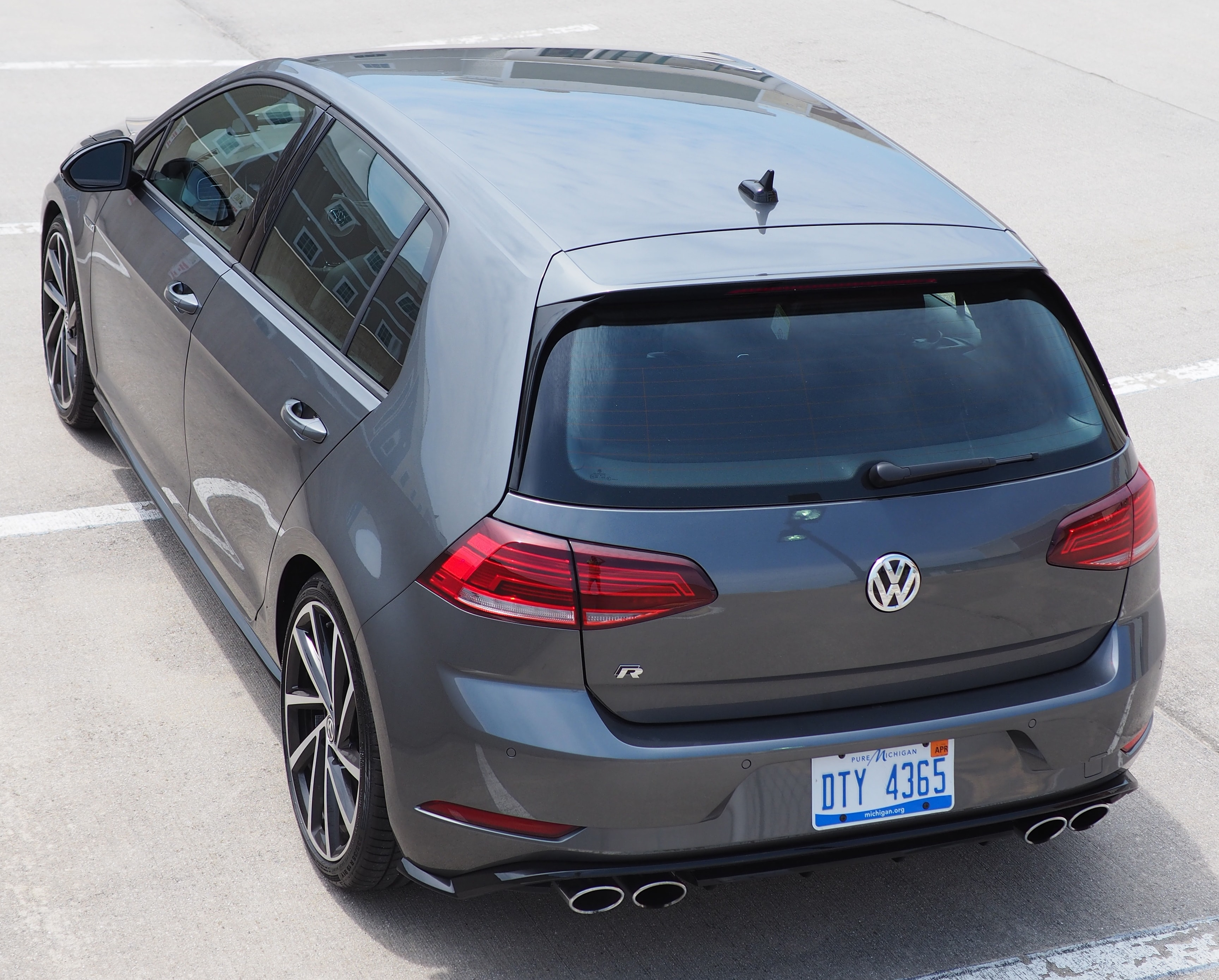 Rear of the Golf R
