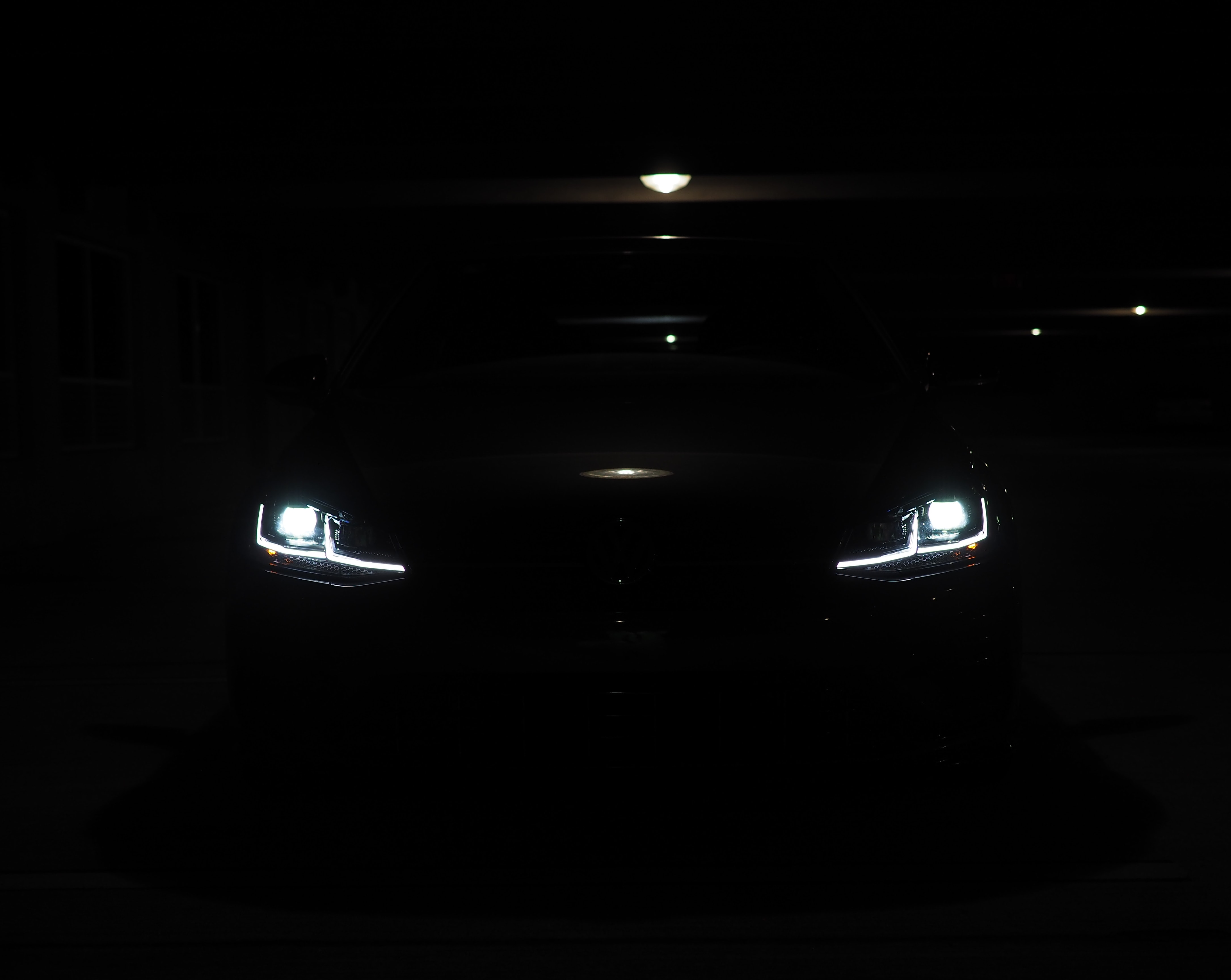 Volkwagen Golf R in the dark