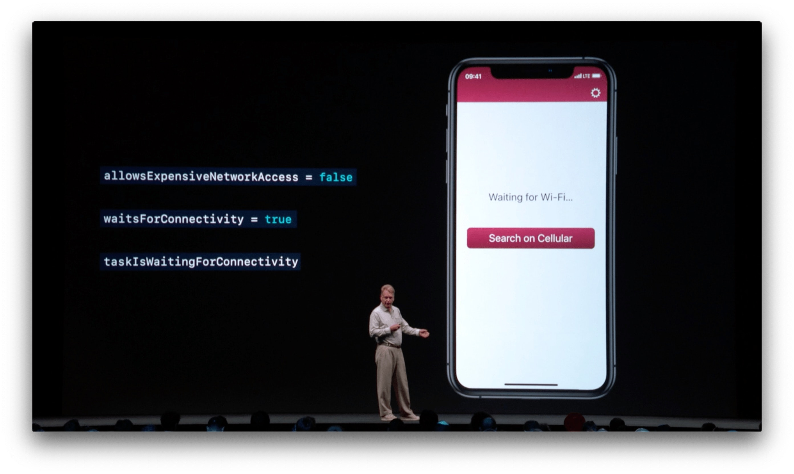 A knockoff of Vignette on a WWDC slide